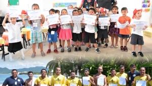 Niños de Badeba dan sus primeros pasos en prevención y cultura de protección civil